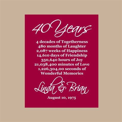 1000  ideas about 40th Anniversary on Pinterest   40th