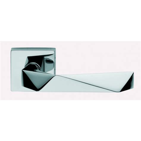 Office Door Knobs by Polished Chrome Dnd Lever Handles On Square Door