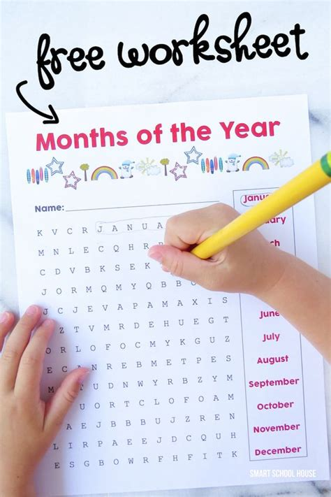printable word search months of the year free months of the year worksheet a printable word search