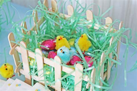 easter basket craft simple diy mini easter basket