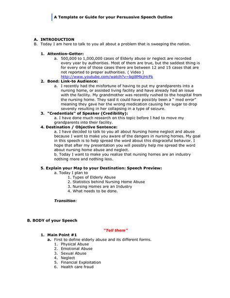 persuasive speech outline template rpolibraryutoronto