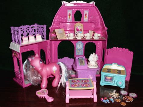 my little pony dolls house my little pony cotton candy cafe dollhouse pink doll house by hasbro