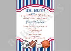 sports theme baby shower invitation diy print your by jcbabycakes