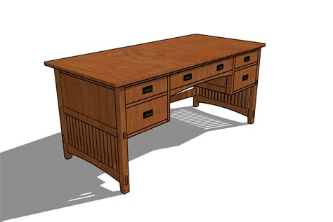 Mission Desk Plans Pdf Woodworking Woodworking Desk Plans