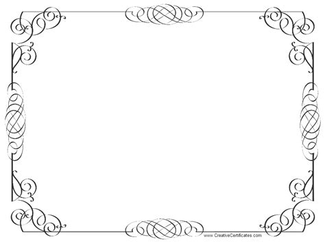pages template certificate colorful page borders az coloring pages