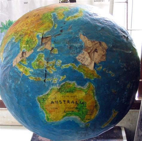 How To Make A Paper Globe - how to make a paper mache globe craft
