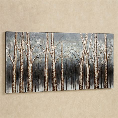 wall paintings aspen tree grove handpainted canvas art