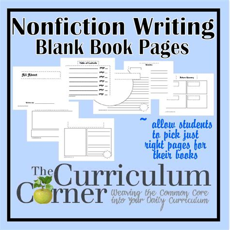 writing fiction books nonfiction writing blank book pages the curriculum
