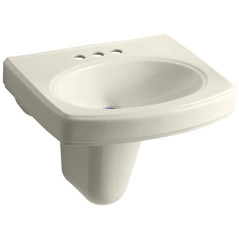 kohler bathroom sink drain kohler pinoir wall mount vitreous china bathroom sink with