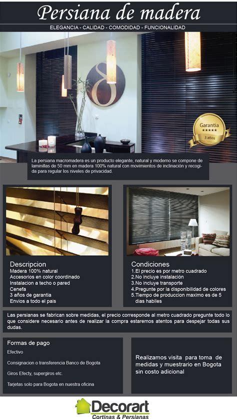 decorart co largo persiana en madera 180 000 en mercado libre