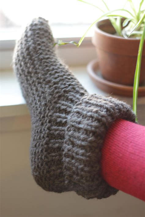 knit bootie slippers a common thread knit project bootie slippers