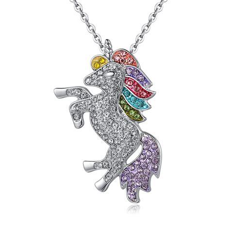 tassina unicorn necklace vintage gold color pendant for