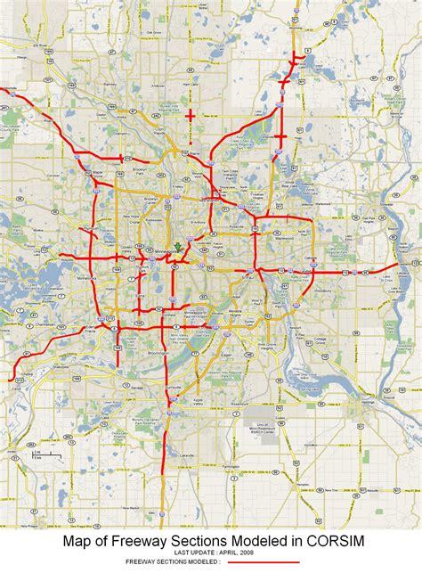 mndot traffic map mndot corridor simulation modeling
