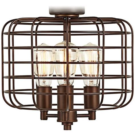industrial ceiling fan light kit industrial cage rubbed bronze ceiling fan light kit