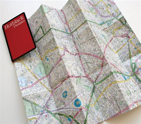 Origami Map Fold - beepers christopher de voss