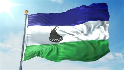 Channel Flag 3in1 lesotho flag stock footage 4k and hd