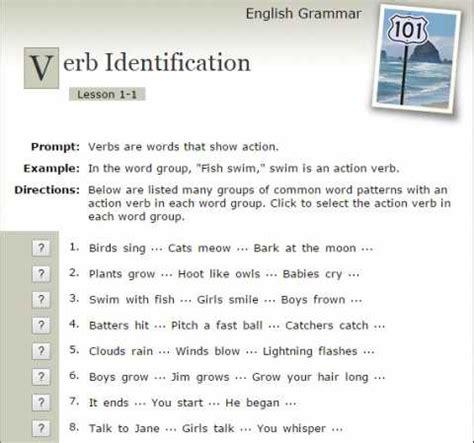 identify sentence pattern english grammar verb identification english grammar 101 educational