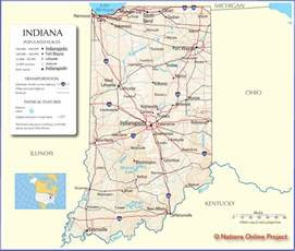 Indiana State Map by Map Of Indiana