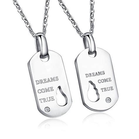 cadenas de plata con iniciales para hombres daesar joyer 237 a collares colgantes parejas acero inoxidable