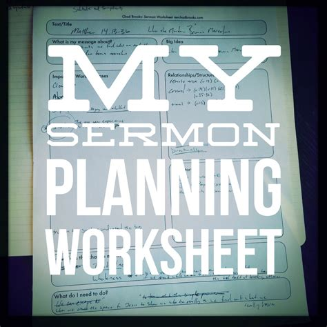 Sermon Preparation Worksheet by Sermon Planning Worksheet