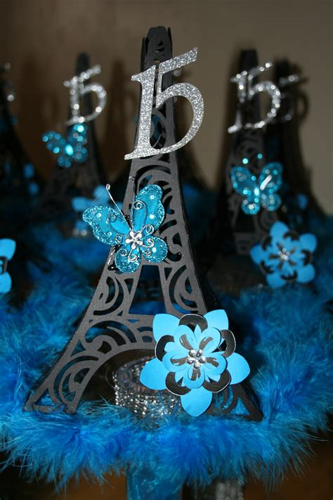 quinceanera themes paris paris quincenera centerpieces i just finished made with