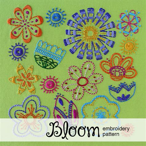Pdf Bloom Creating Living Flowers by Bloom A Flower Embroidery Pattern Shiny Happy World