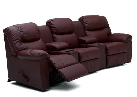 theater sectional sofas palliser regent three recliner home theater sectional
