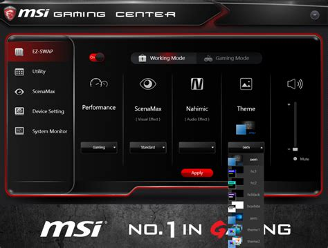 theme windows 10 msi the ins and outs of msi gaming center
