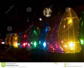 row of outdoor large christmas lights royalty free stock