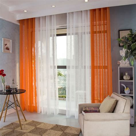 sheer curtains for living room 1 panel modern sheer curtains window decoration solid color voile curtain hooks top living room