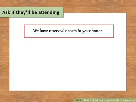How To Address Response Card Envelopes With Pictures Wikihow Rsvp Envelope Address Template