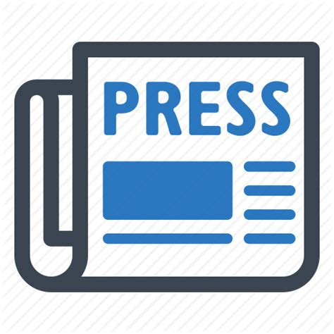 press news article newspaper press release icon icon search engine