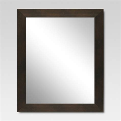 mirror target rectangle decorative wall mirror espresso threshold target