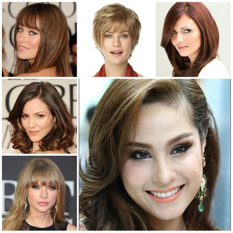 suitable hairstyle for oval face shape the right hairstyles for your face shape 2016 2017