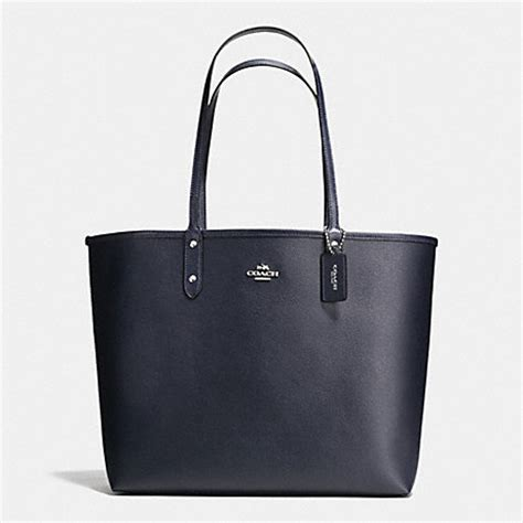 Coach City Tote 6 reversible city tote in coated canvas f36609 silver midnight slate coach handbags