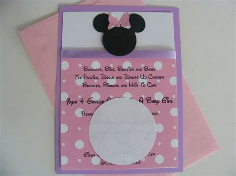 Baby Shower Minnie Mouse by Minnie Mouse Invitations Baby Shower Custom Listing For