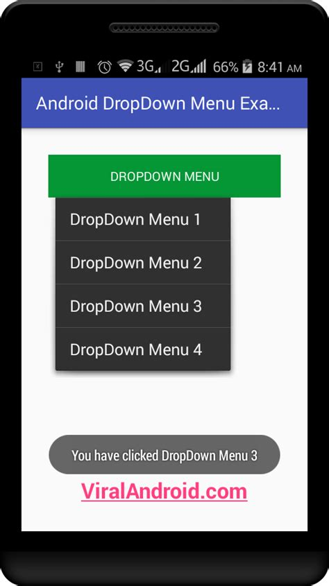 android menu layout tutorial android dropdown menu exle viral android tutorials
