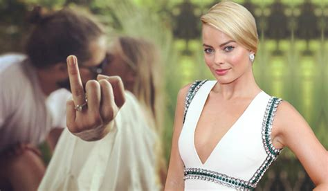 margot robbie ring margot robbie posts cheeky snap following her wedding