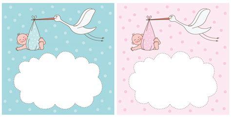 cornici per neonati neonati con cicogna newborns with stork vettoriali