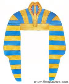 Pharaoh Crown Template by Pharaoh Headdress Craft Crafts Firstpalette