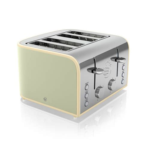 Pale Green Toaster 4 Slice Retro Toaster Green Buy At Qd Stores
