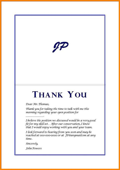 4 thank you note for job interview cio resumed