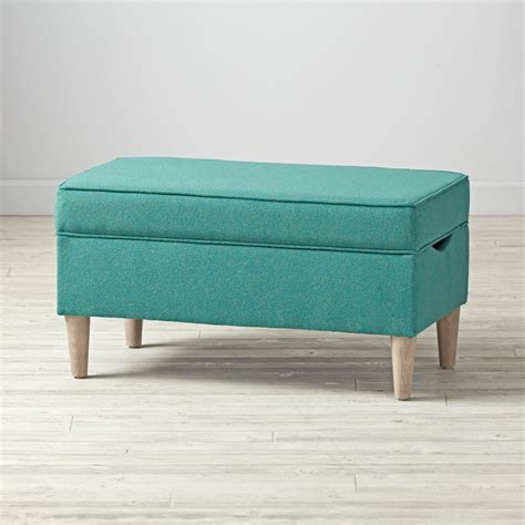 turquoise storage bench upholstered turquoise storage bench the land of nod