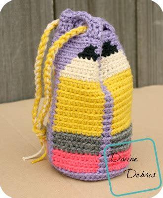 crochet grab bag pattern dancing pencils bag free crochet pattern divine debris