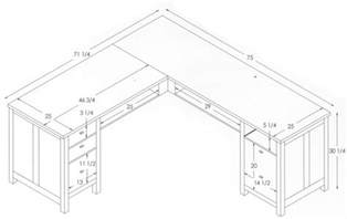 l shaped office desk dimensions ideas greenvirals style