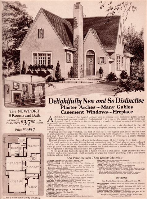 Wardway Homes Modern English Cottage 1930 Montgomery Montgomery Ward House Plans