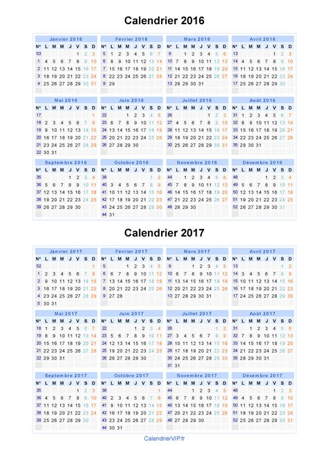 calendrier 2016 version imprimable calendar template 2016