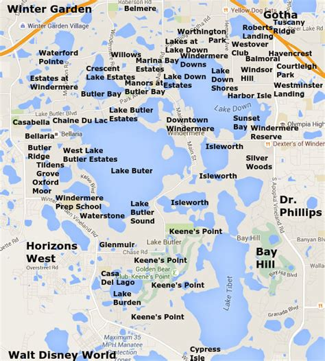 where is windermere florida on a map windermere florida windermere homes for sale