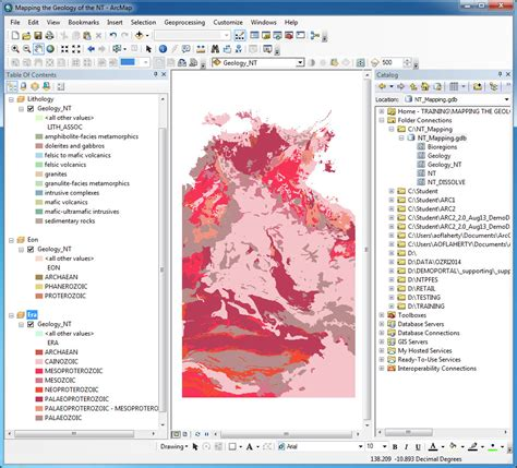 arcgis tutorial for geologists part 1 mapping the geology of the nt 171 geography is