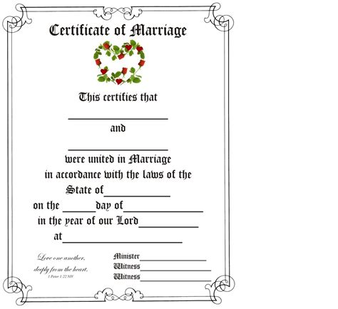 marriage certificates marriage certificate wedding